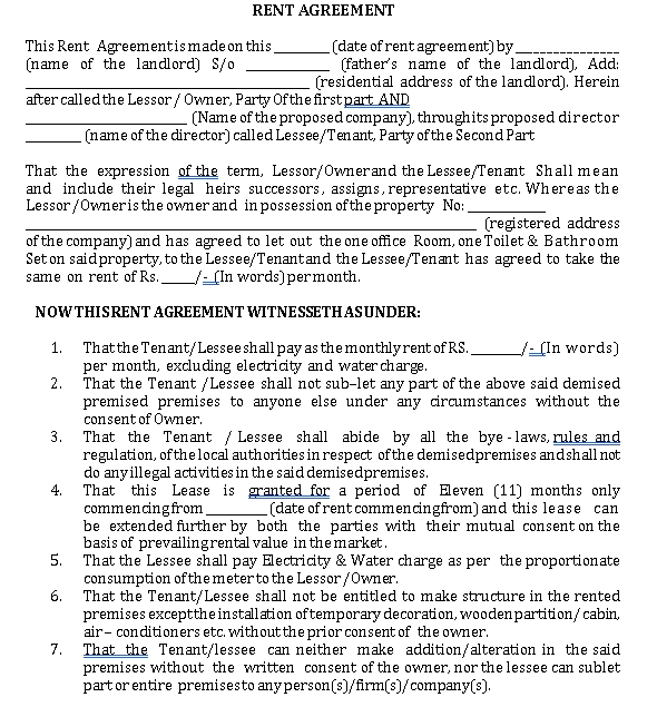 Landlord Tenant Agreements Template 2