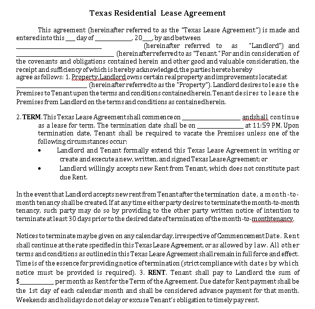 Landlord Tenant Agreements Template 3