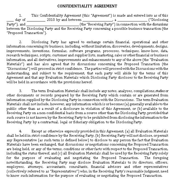 Legal Confidentiality Agreement for Legal Advisor