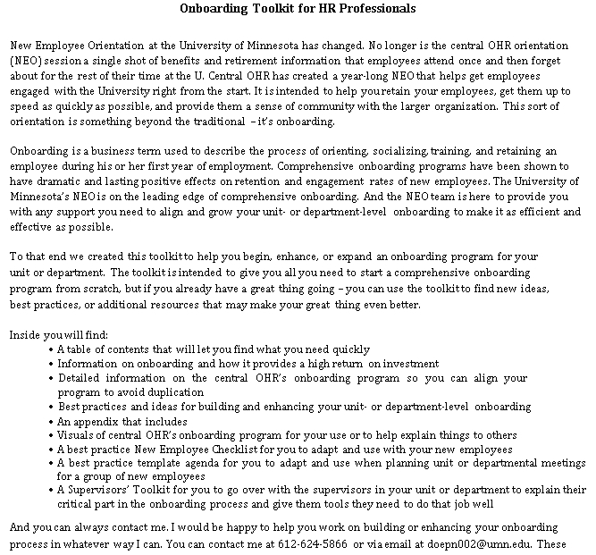 Onboarding Checklist PDF Format Template