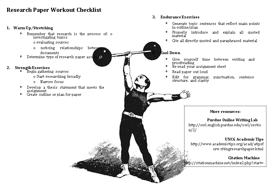 Printable Workout Checklist Template