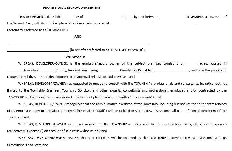 Professional Agreement
