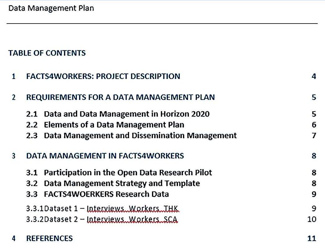 Project Data Management Plan