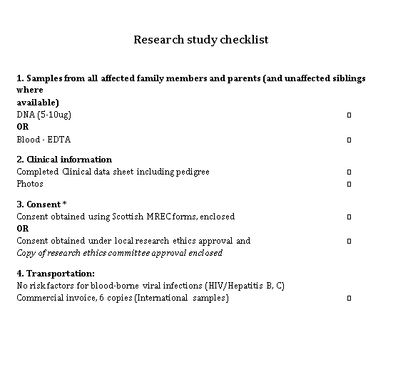 Research Study Checklist Template