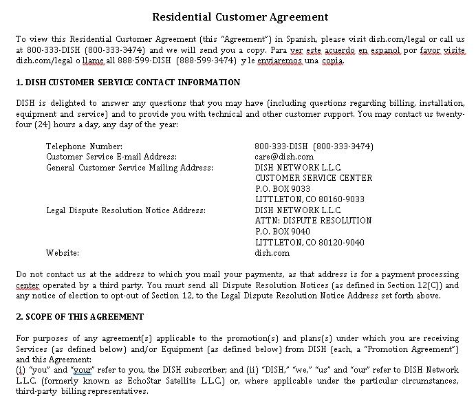 Residential Legal Agreement