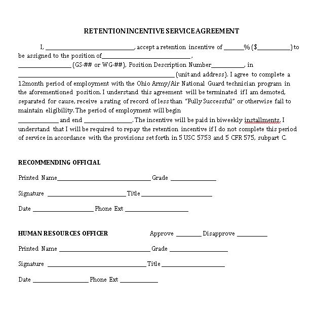 Retention Agreement