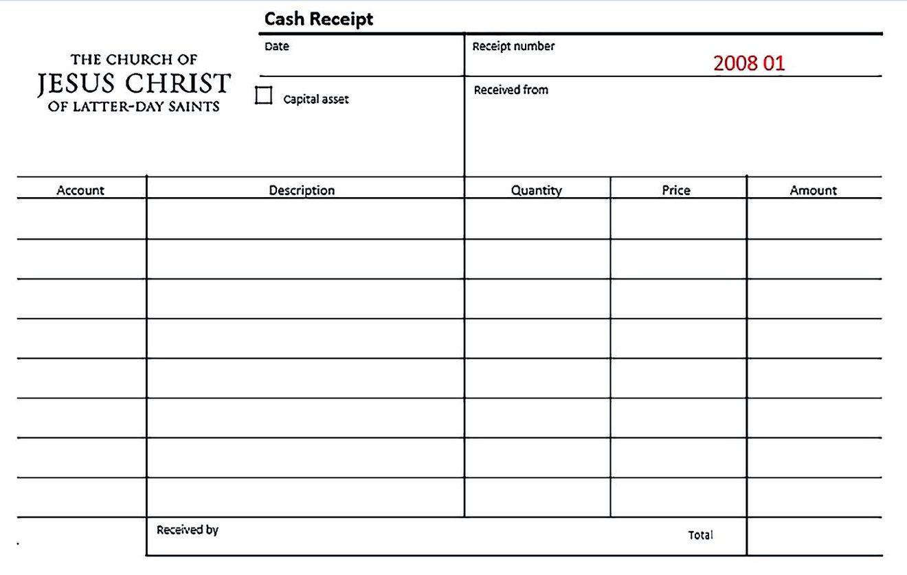 Sample Cash Receipt