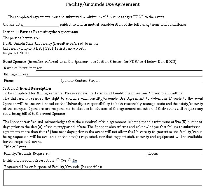 Sample Facility Agreement