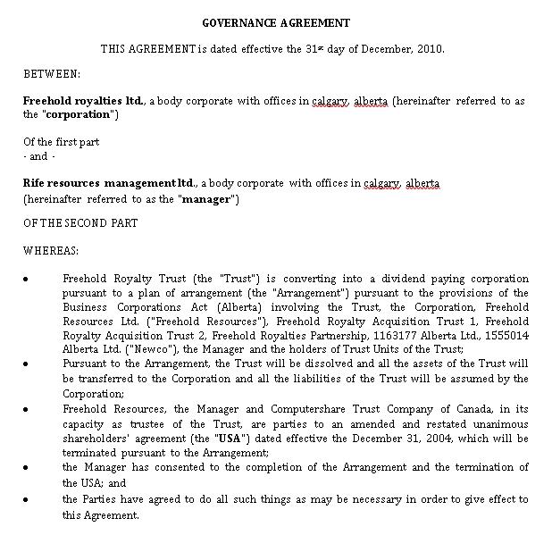 Sample Governance
