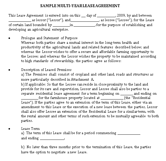 Sample Lease Agreement in PDF