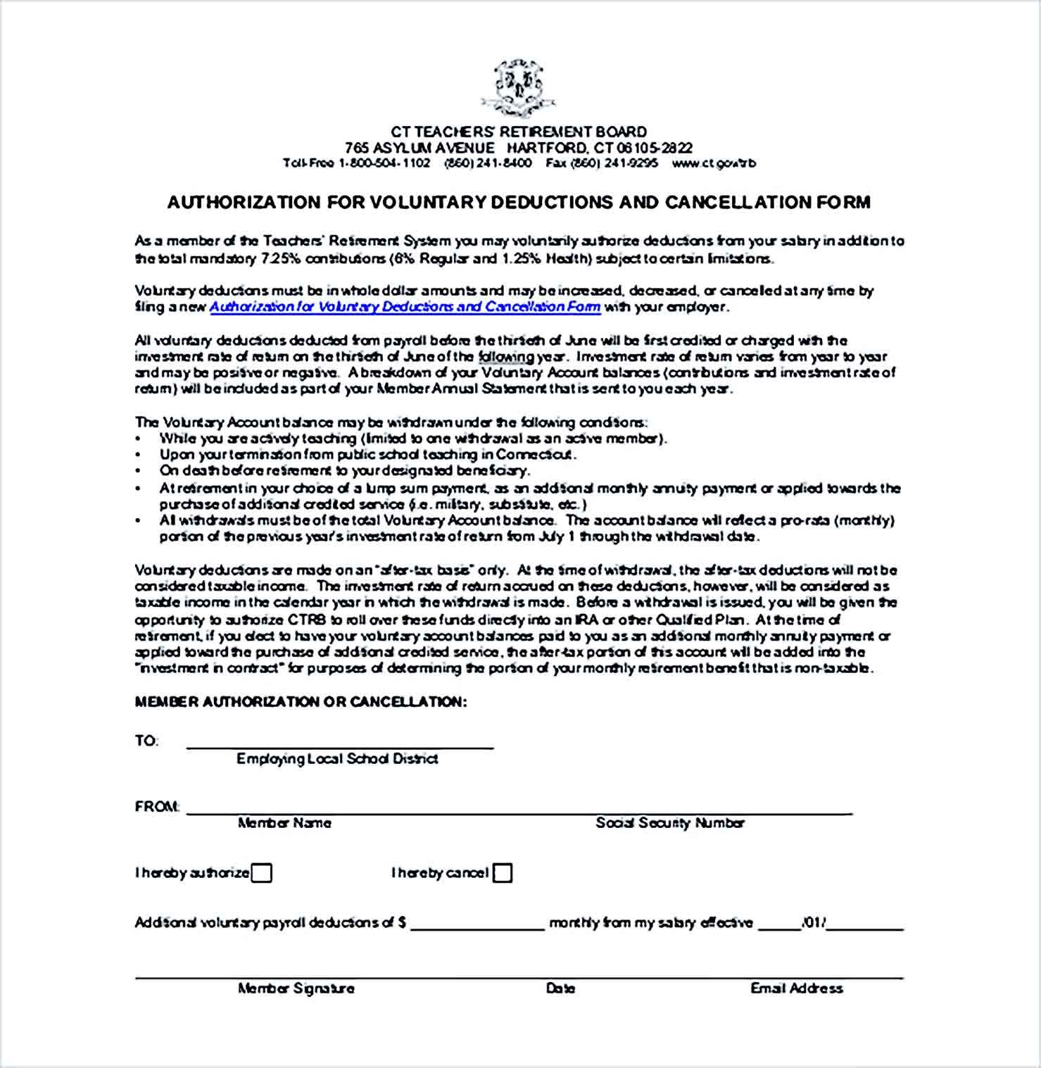 Sample Payroll Budger Deduction Agreement