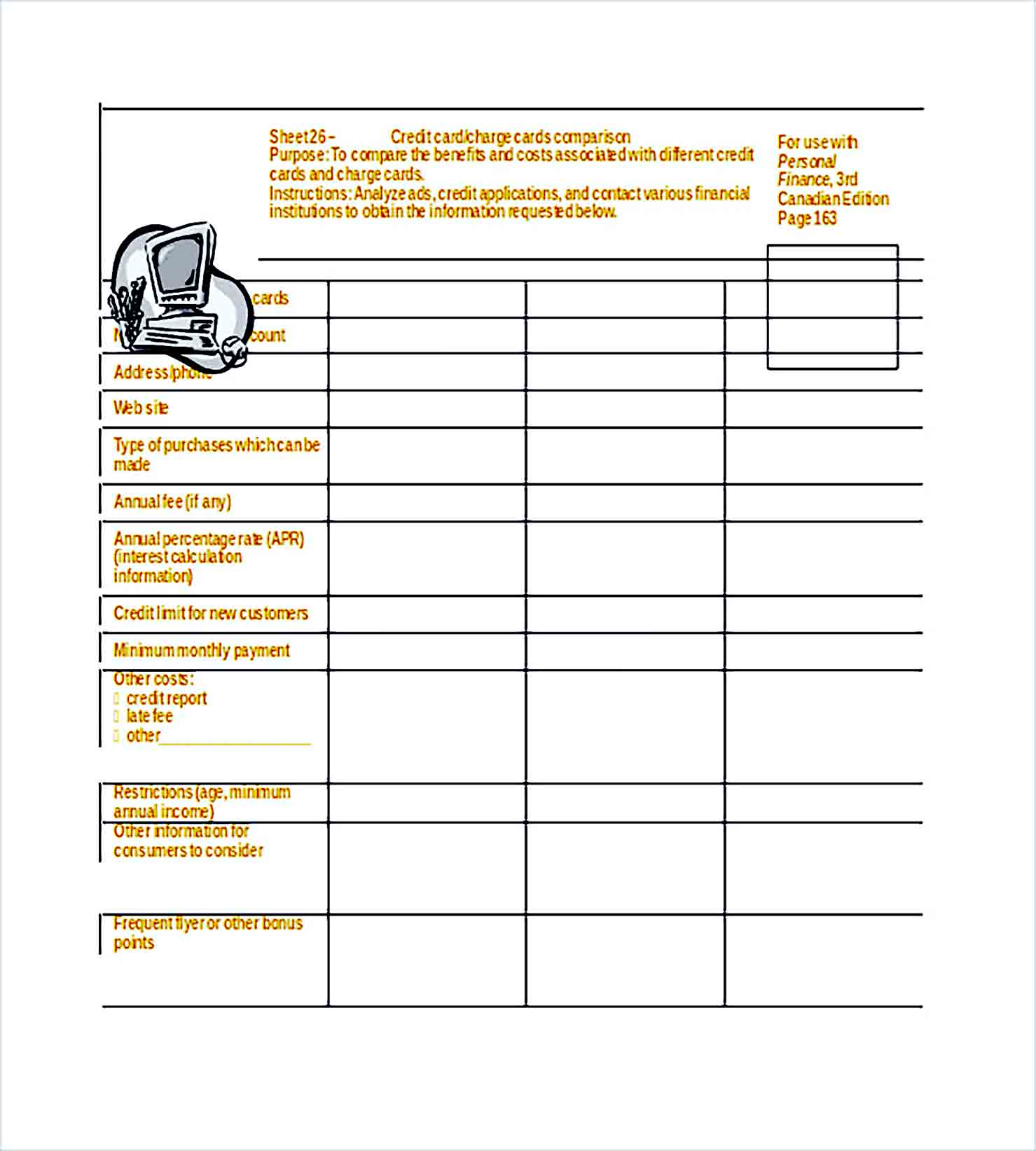 Sample Personal Financial Planner Word Doc