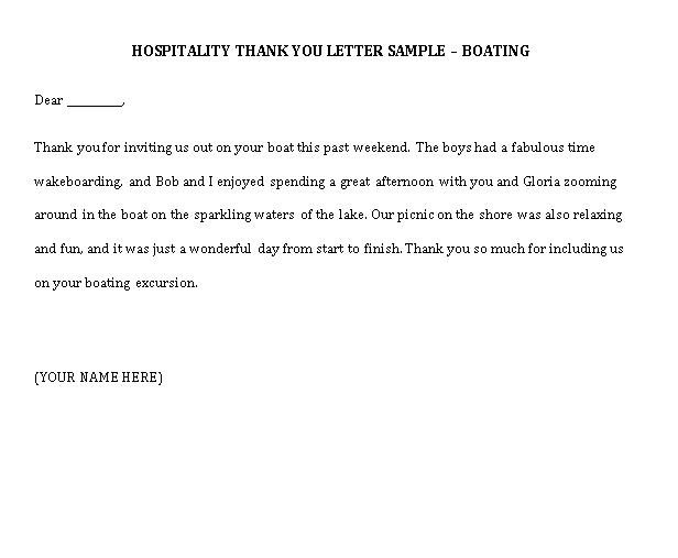 Sample Template hospitality thank you notes1