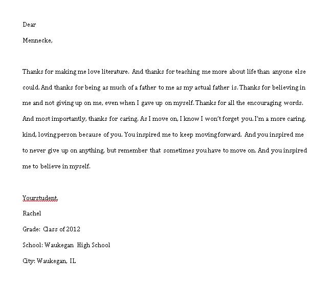Sample Template thank you notes for preschool teachers