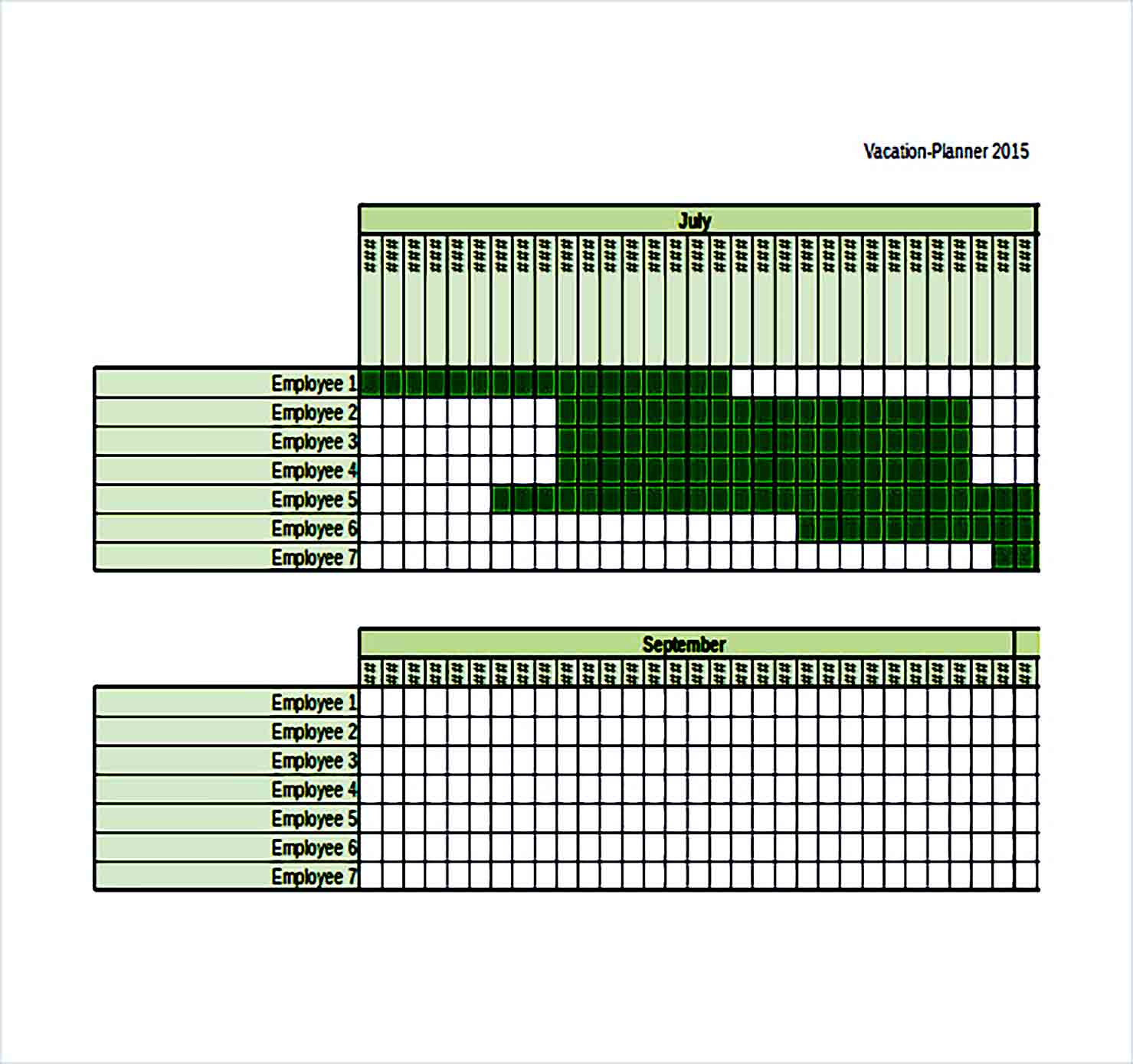 Sample vacation budget planner Excel Format