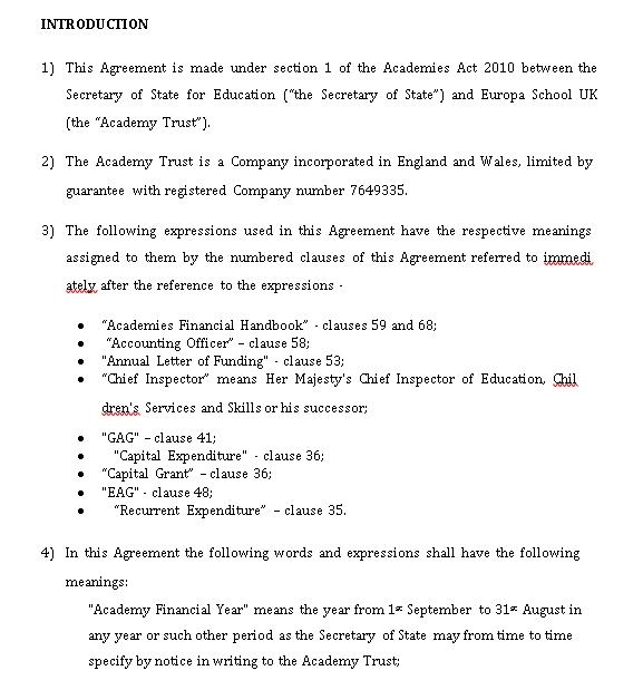 School Agreement