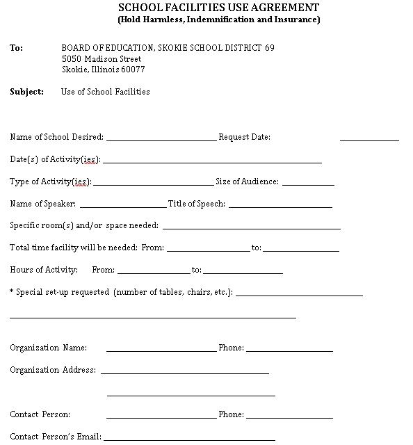 School Facility Agreement