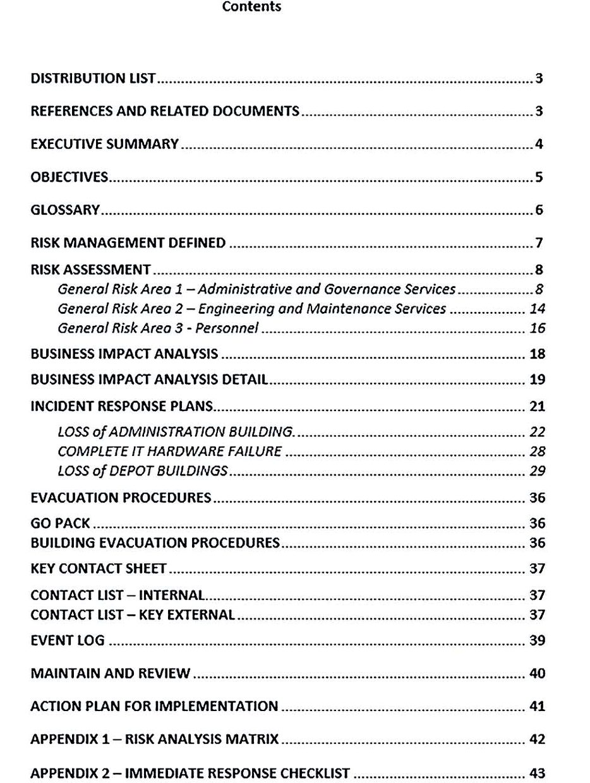 Standard Business Continuity Plan