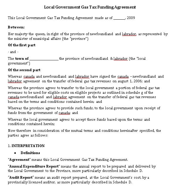 Tax Agreement
