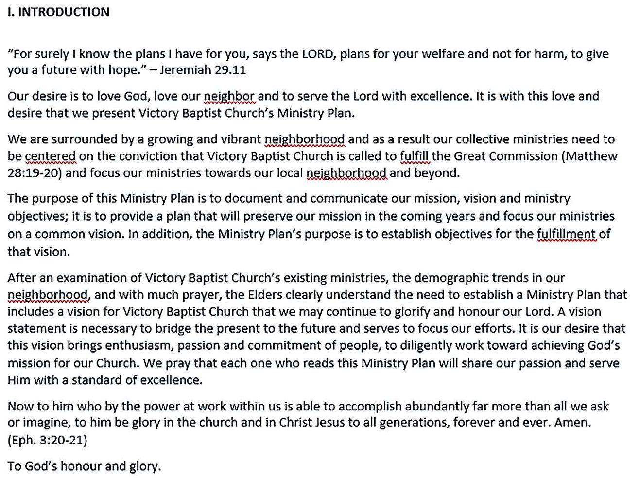pdf format victory baptisit church strategic plan free download