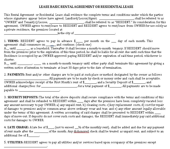rental lease agreement1