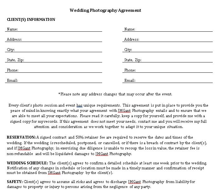7 WeddingPhotographyAgreement