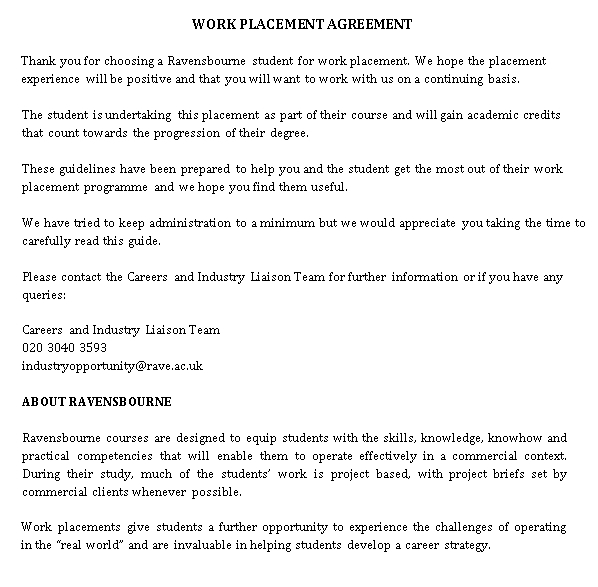 Basic Placement Agreement Template