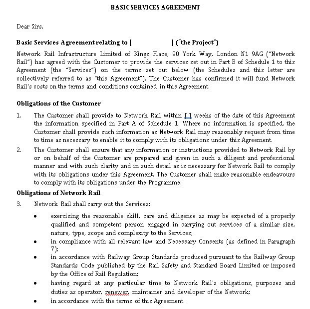 Basic Services Agreement Template