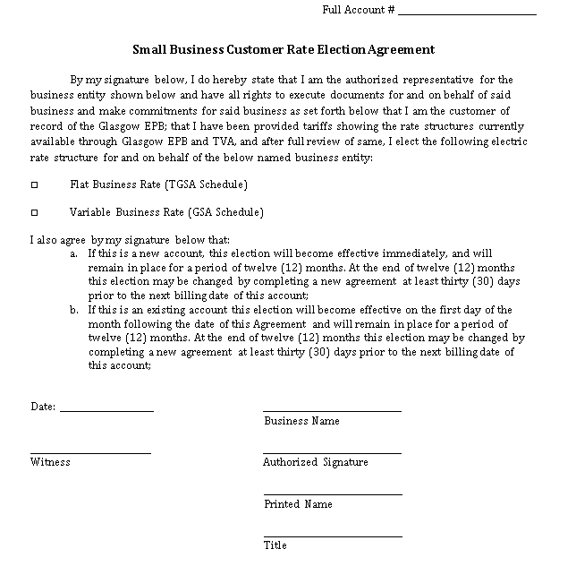Basic Small Business Agreement in PDF