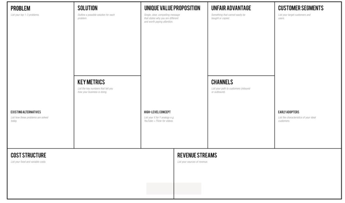 Business Plan Tool Template 1