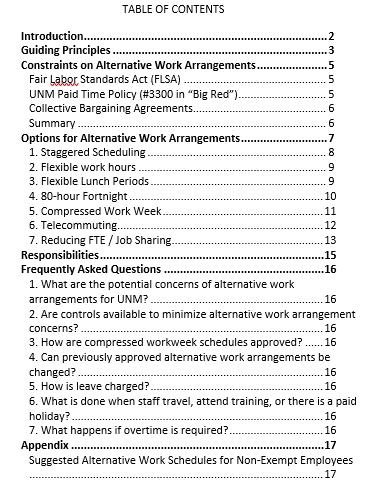 Business Work Schedule in