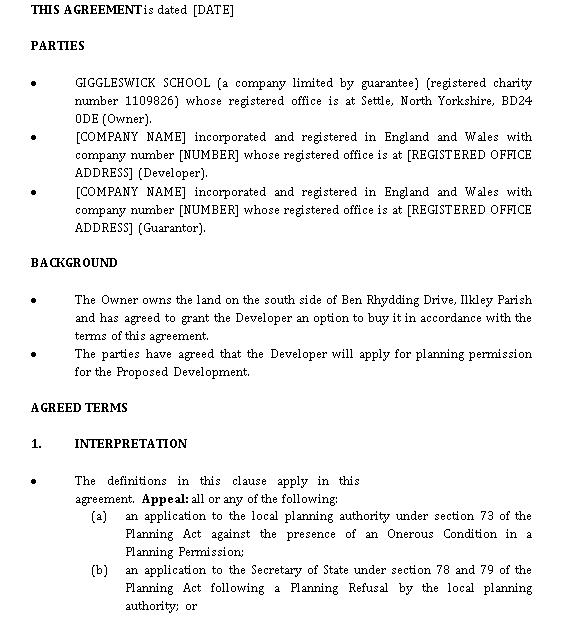 Draft Option Agreement 12252