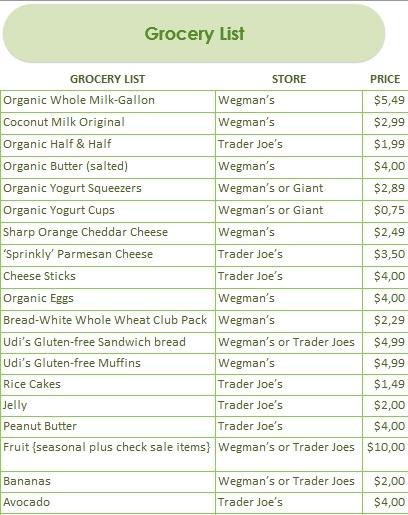 Editable Dinner Menu Schedule Excel Download