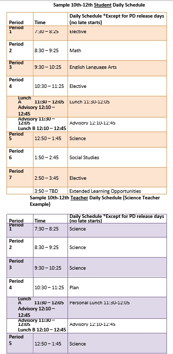 Editable Student Daily Schedule