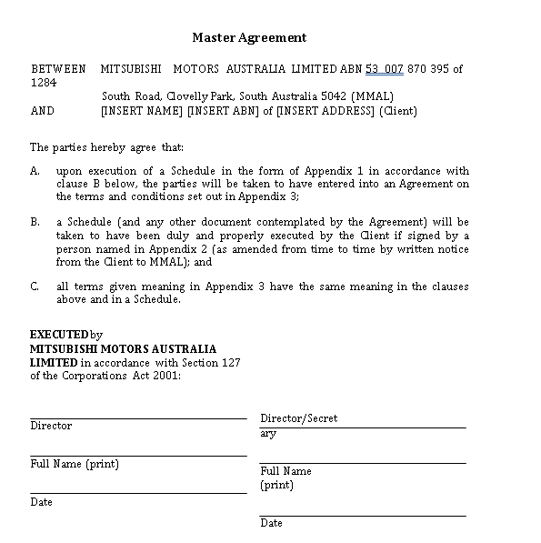 Electric Vehicle Lease Agreement Template