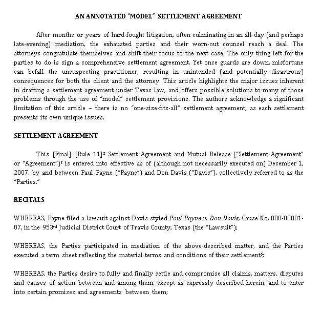 Example Confidentiality Settlement Agreement for Real Estate