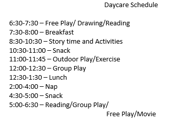 Example of Daycare