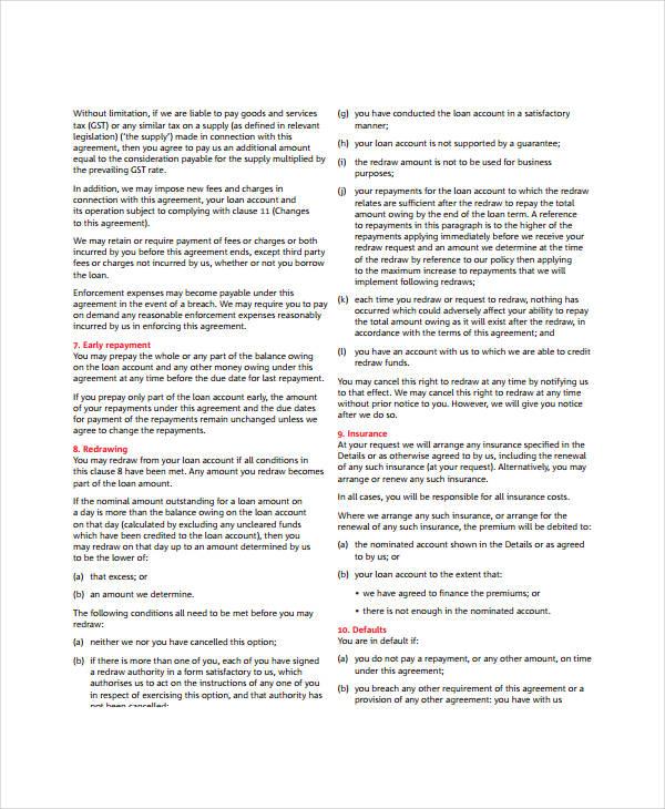 General Personal Loan Agreement