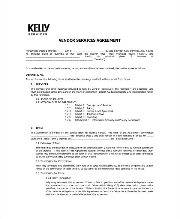 Generic Vendor Confidentiality Agreement2
