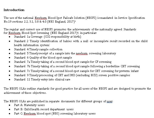Laboratories Operational Level Agreements