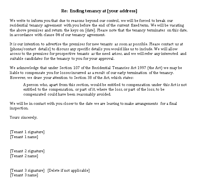 Land Rent Agreement Letter Template