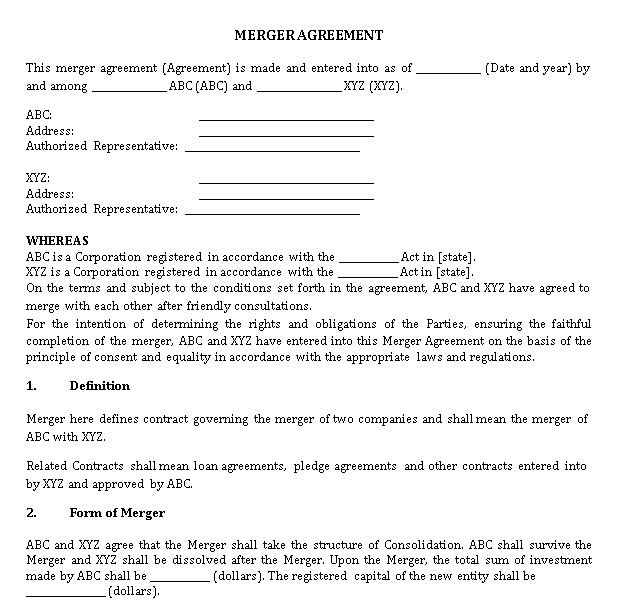 Law Merger Agreement