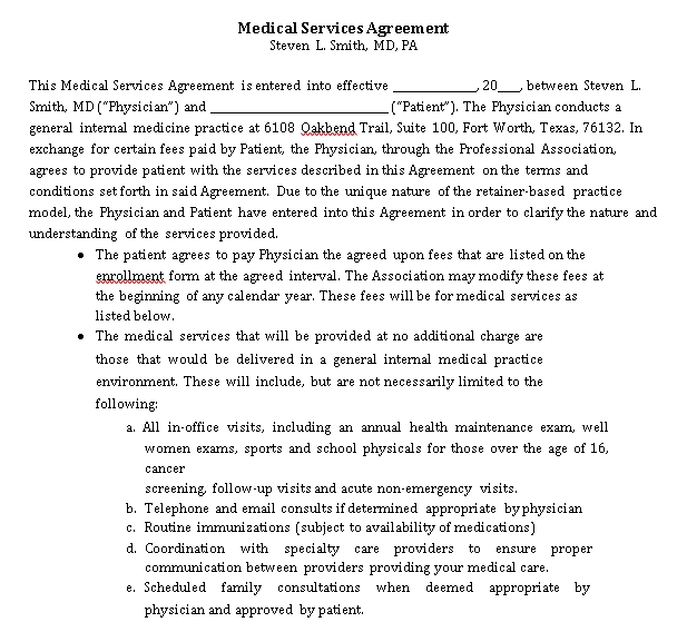 Medical Service Template 7