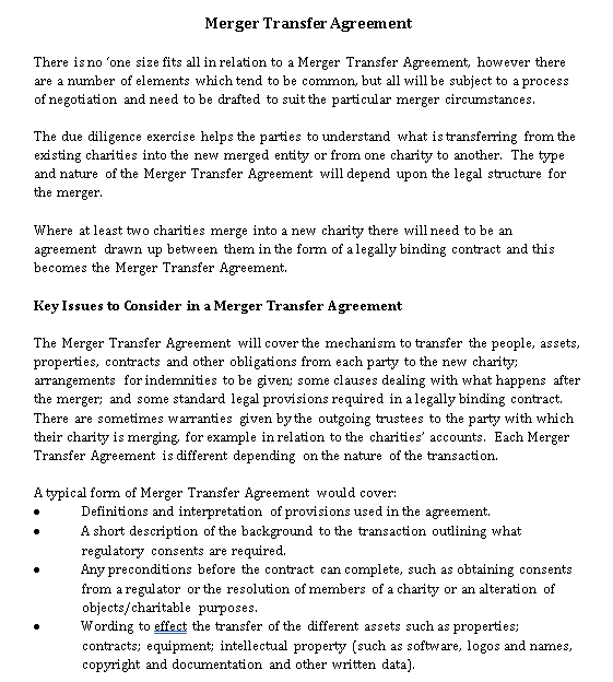 Merger Transfer
