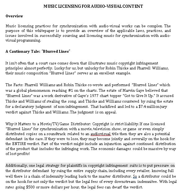 Music Agreement Template 3