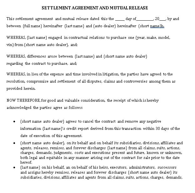 Mutual Agreement1