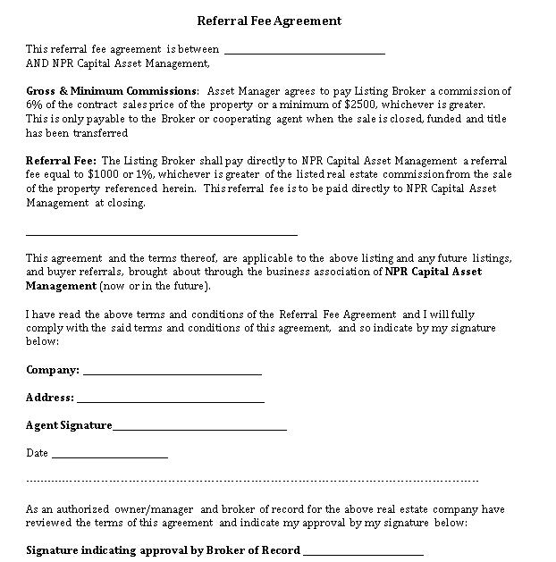 NPR Referral Fee Agreement final