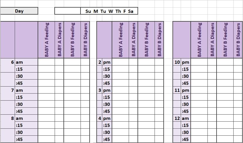 Newborn Twin Schedule