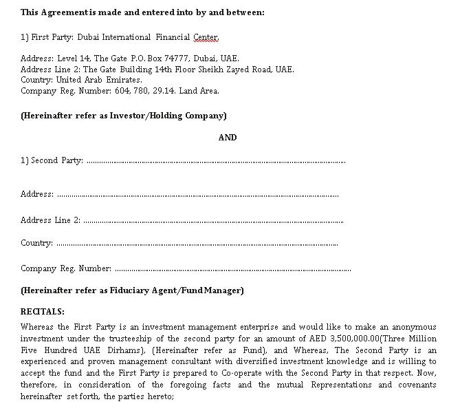 Partnership Investment Agreement Sample