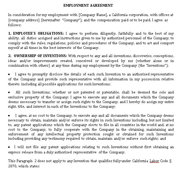 Patent Employment